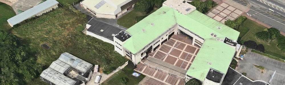 Le collège en 3D pris sur Google Maps