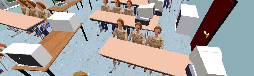 La salle 001 modélisée avec Architecte 3D